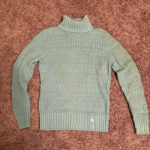Knit baby blue turtle neck sweater